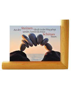 Kartenaufsteller aus Ahornholz (mit Gratis-Karte)