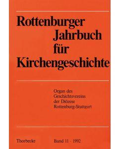 Rottenburger Jahrbuch für Kirchengeschichte 1992