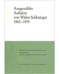 Ausgewählte Aufsätze von Walter Schlesinger 1965 -1979