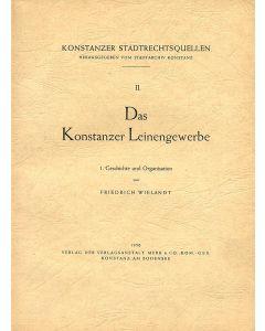 Das Konstanzer Leinengewerbe