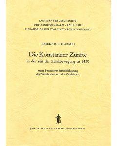Die Konstanzer Zünfte in der Zeit der Zunftbewegung bis 1430
