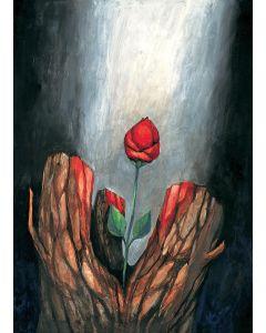 Die Blume aus dem toten Stamm