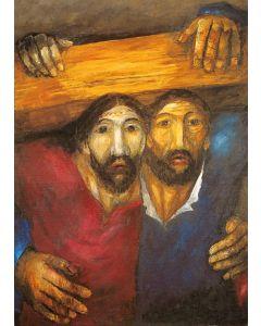 Jesus und Simon von Cyrene