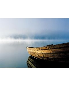 Boot im Nebel