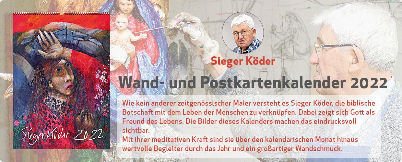 Sieger Köder Wand- und Postkartenkalender 2022